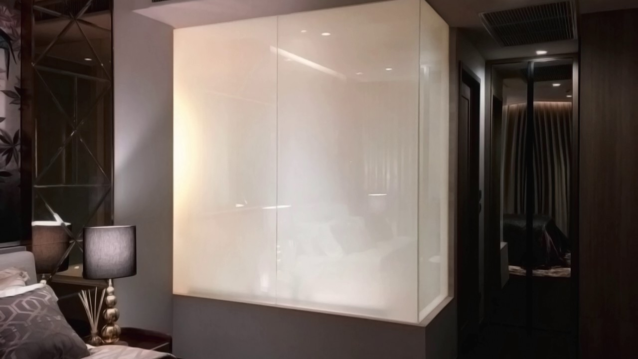 smart glass shower door