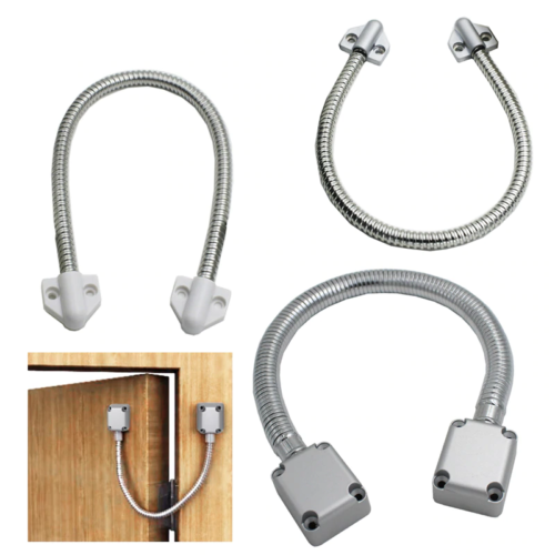 Door Loop Exposed Mounting Protection Sleeve Access Control Cable Stainless Steel Hidden Wire Line Protect Armored Metal Tube