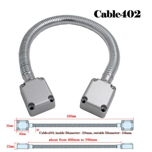 Door Loop Exposed Mounting Protection Sleeve Access Control Cable Stainless Steel Hidden Wire Line Protect Armored Metal Tube 2